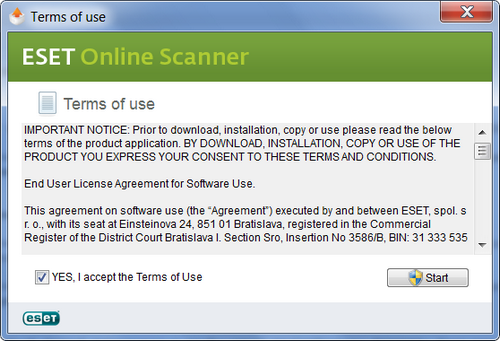 tutorial eset online scanner
