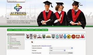 Asociacion de Universidades Privadas AUPRIDES-Sitio web