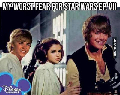 My worst fears for Star Wars Episode VII. Justin Bieber and Disney actors