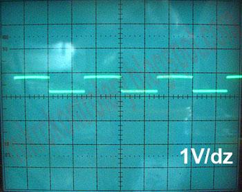 Silnik BLDC - Czujniki Halla - Oscylogram sygnałów wyjściowych.