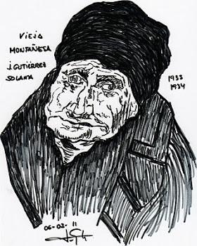 """Homenaje a Gutiérrez Solana"", por Paco de la Calle..."