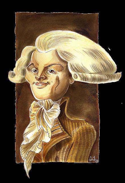 Caricature de Robespierre