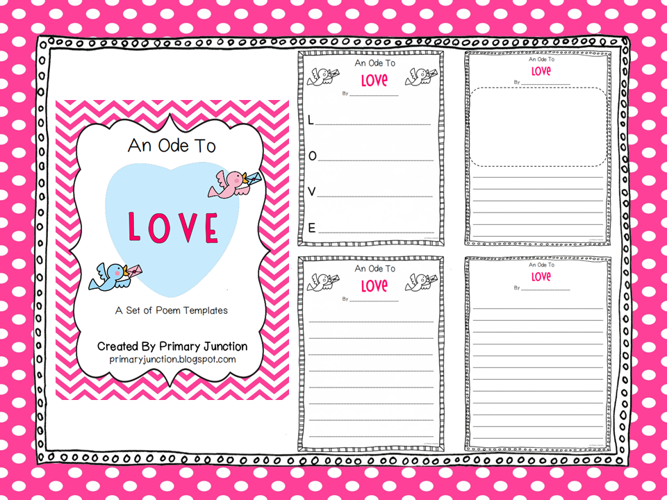 Classroom Freebies: Valentine Poem Templates