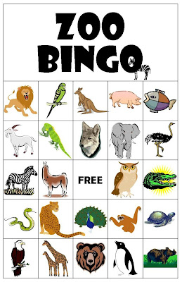 This is a graphic of Crazy Animal Bingo Printable