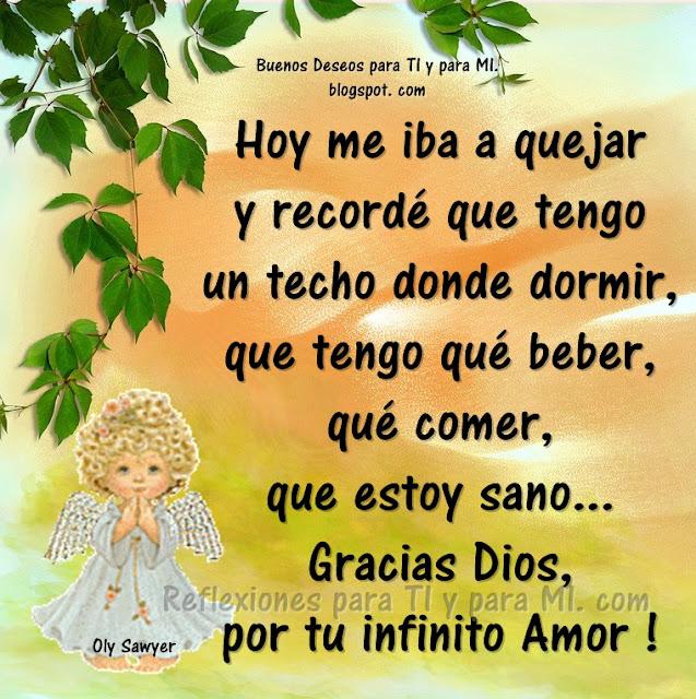 Gracias Dios, por tu infinito Amor!