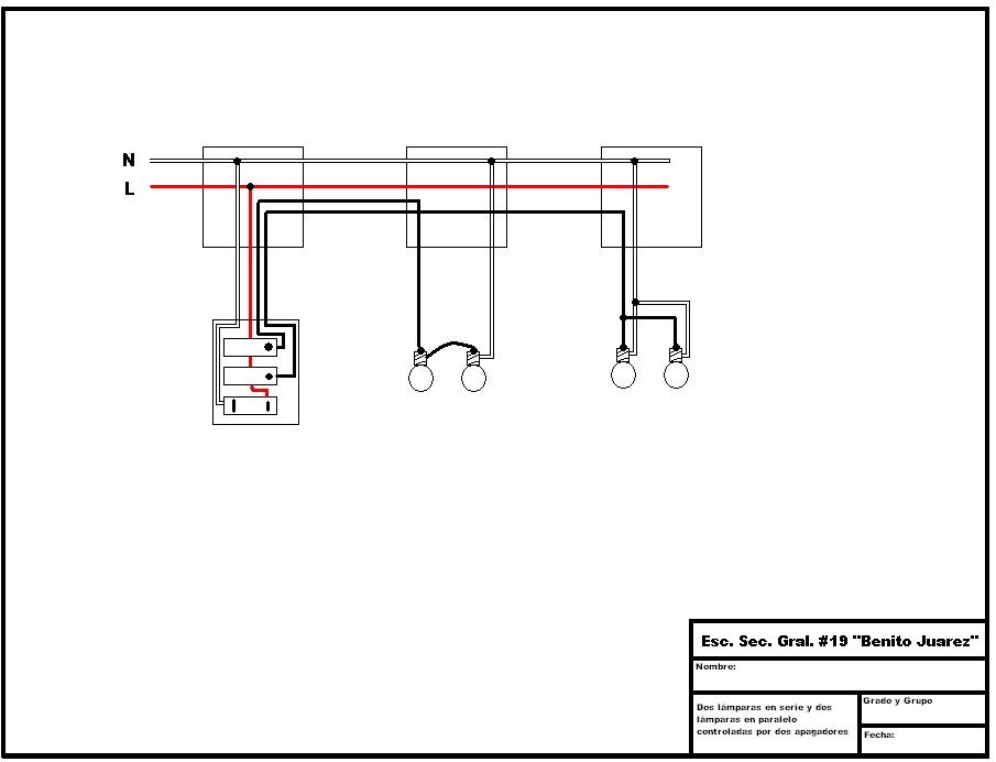 Tecnolog U00edas  Electricidad   Diagrama De Circuito El U00e9ctrico