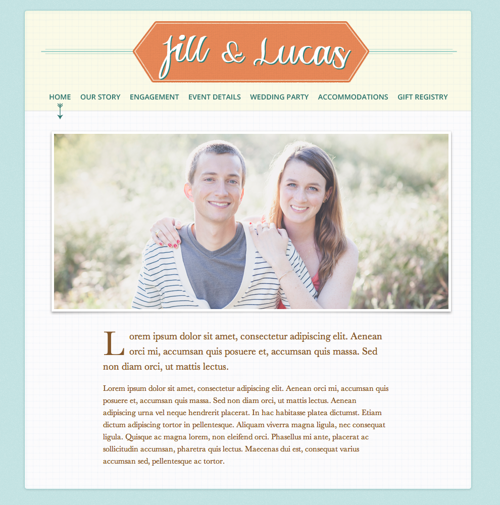 pleased to present our new wedding website designed by the brilliant brad williford its still in the early stages as we have a ton of content to add