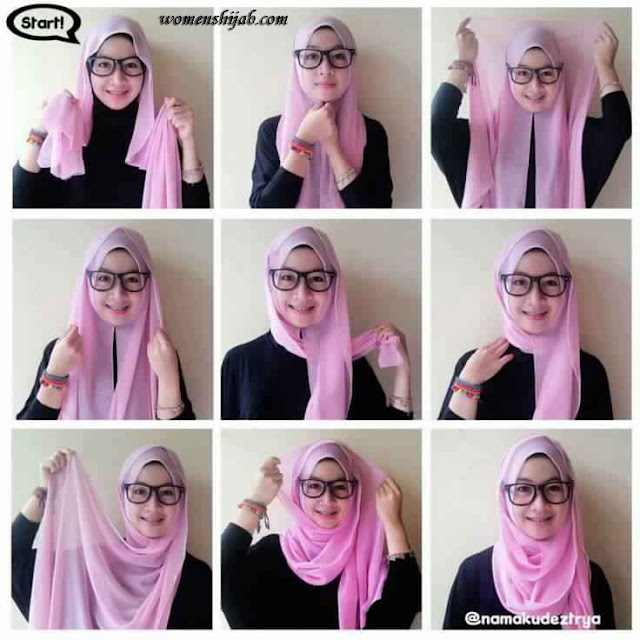 Tutoriel Hijab avec lunettes