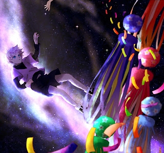 Killua Space White Hair Blue Eyes Male Guy Hunter X Hunter Anime HD Wallpaper Desktop PC Background  1981