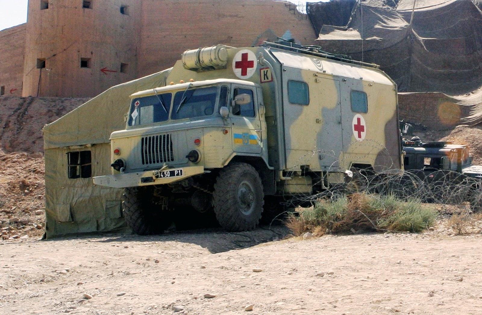 Ірак. Медичний ГАЗ-66. Ukranian_ambulance_in_Iraq