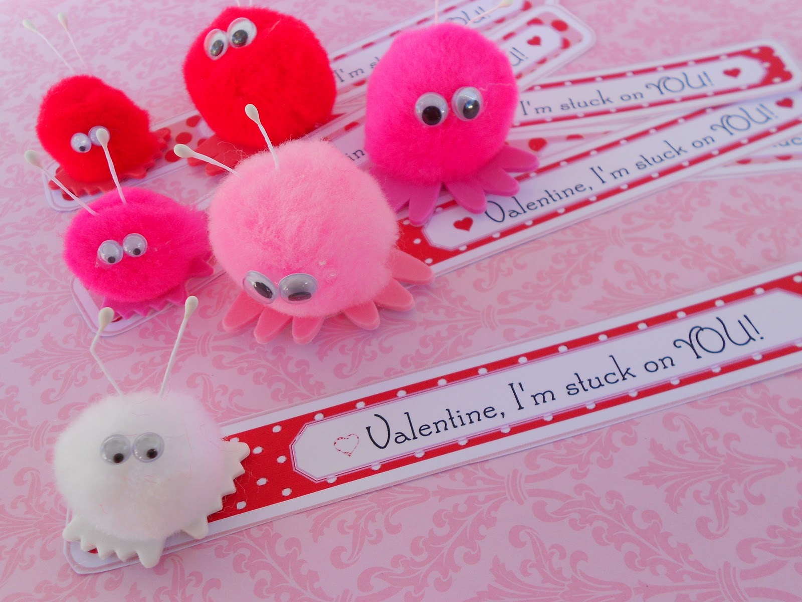 Valentine love bug craft - Warm Fuzzy Valentine Luv Bugs A Cute Easy Valentine Idea