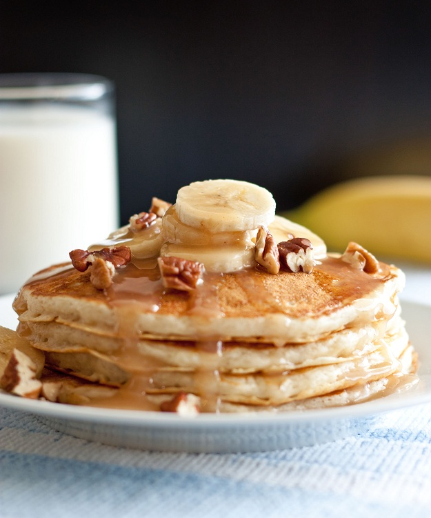 cooking: Banana Bread Pancakes with Cinnamon Cream Cheese ...