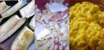Zucchine ripiene con uova strapazzate prepariamo le uova in padella