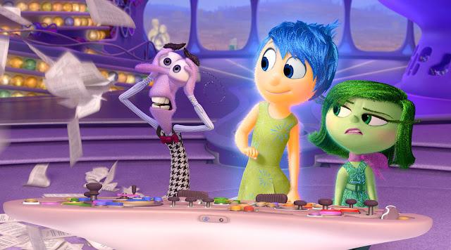 Una divertida escena de la película Inside Out de Pixar