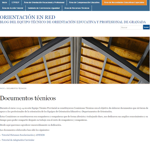 La imagen muestra el blog del equipo con una foto de la cúpula del edificio La Normal
