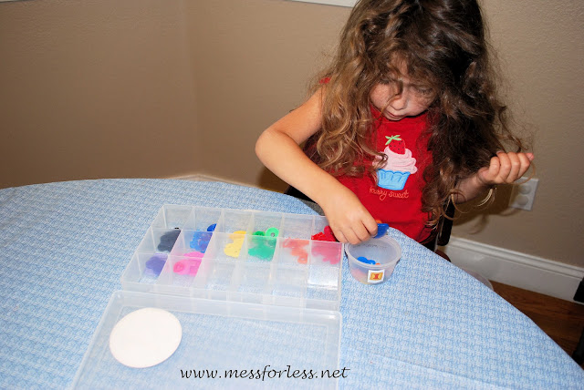 Button sorting for kids