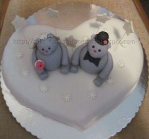 Cake toppers teddy bear
