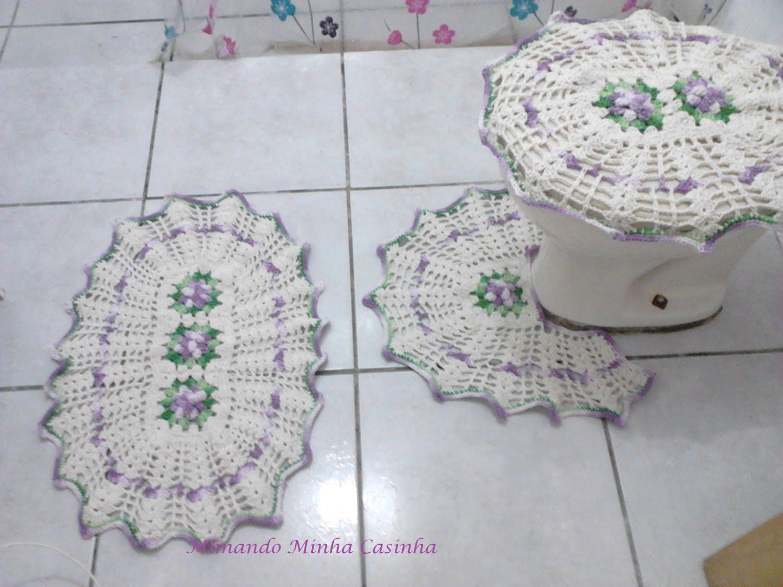 Home Artesanato Crochê Tapete Em Forma De Leque Pictures to pin on #48756B 1600x1200 Banheiro Branco E Laranja