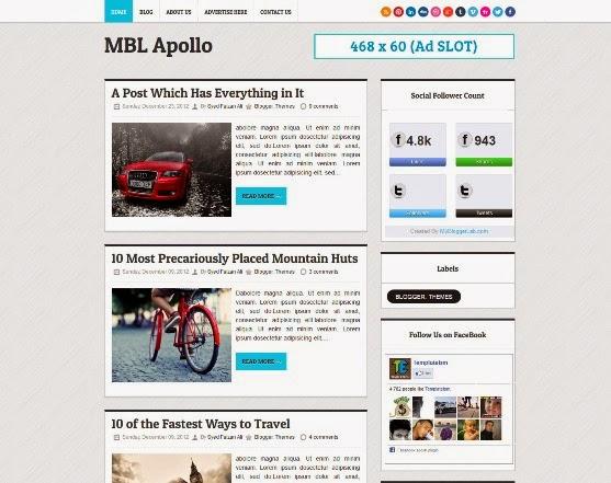 Apollo Blogger Template