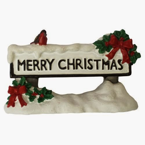 Christmas Street Sign Cake Topper
