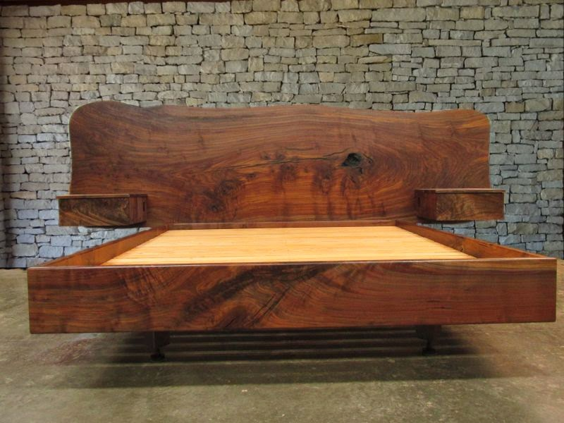 Custom juniper log furniture taxidermy pedestals claro for Bed slab