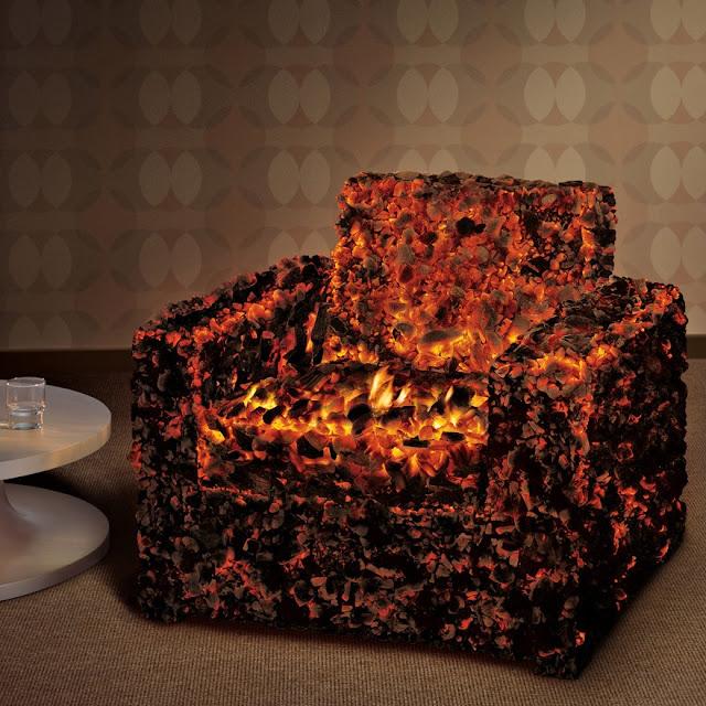 Glødende kul lænestol