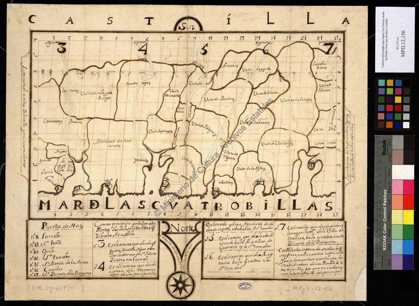 mapa de cantabria 1748