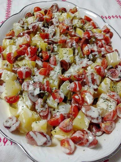 receta ensalada alemana cocina facil