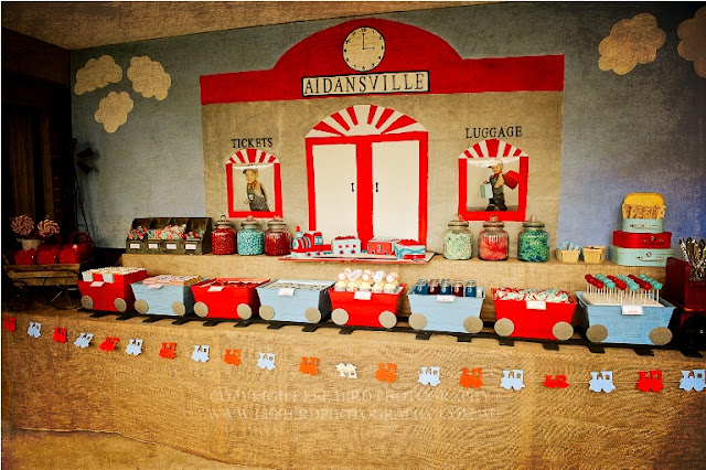 Karas Party Ideas Vintage Train Station Birthday