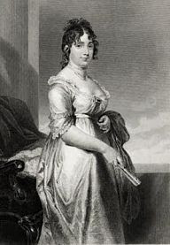 illustration First Lady Dolley Madison in 1812