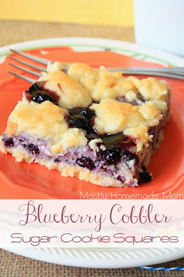 http://www.mostlyhomemademom.com/2014/05/blueberry-cobbler-sugar-cookie-squares.html
