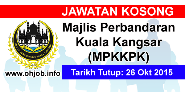 Jawatan Kerja Kosong Majlis Perbandaran Kuala Kangsar (MPKKPK) logo www.ohjob.info oktober 2015