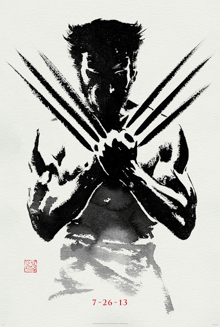 THE WOLVERINE IN BLACK PAINTING POSTER