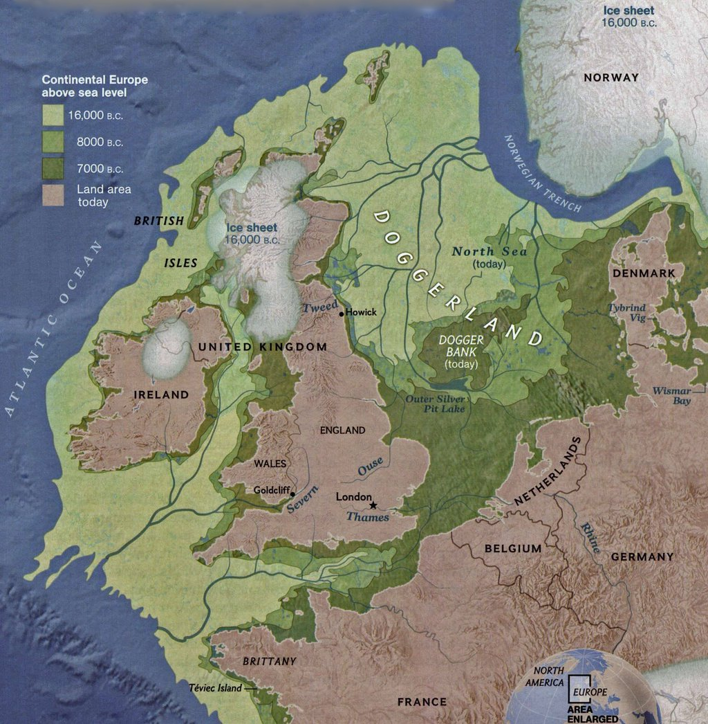 North West Europe, 16,000 years ago