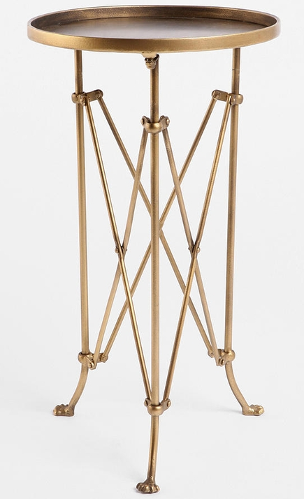 frugal find u2013 brass side table