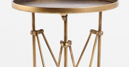 Frugal Find Brass Side Table