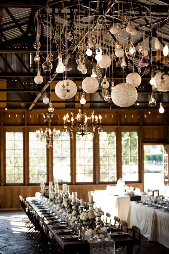 Inspire bohemia delicious dining rooms and nooks part iii - Paper lantern chandelier ...