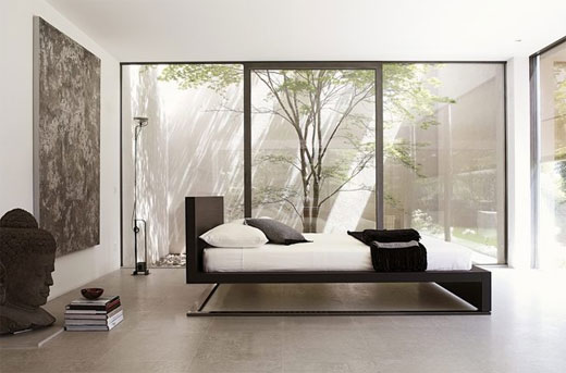 Contemporary modern and minimalist bedding design by for Modern minimalist bed