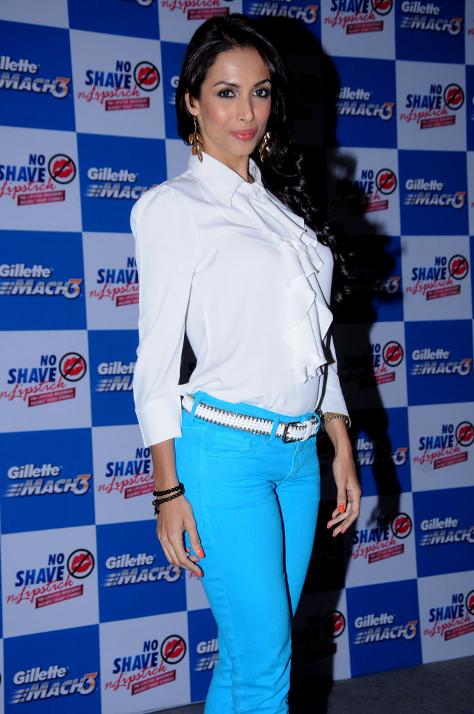 Malaika Arora in Hot blue Pants, White Top at No Shave No Lipstick Launch  - Malaika Arora at No Shave No Lipstick Launch