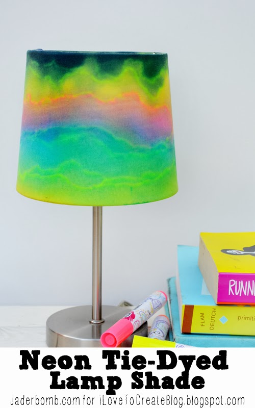 Ilovetocreate blog make it neon tie dyed lampshade i know its fall and almost halloween but i just felt the need to post something bright whimsical and fun you know something that you can look at and mozeypictures Gallery