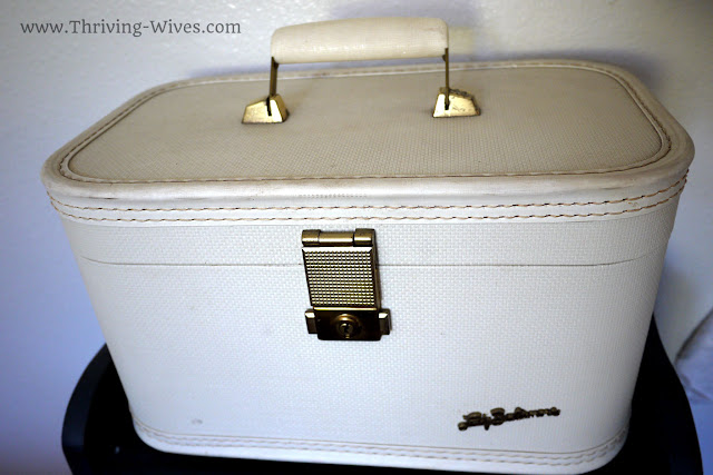 vintage home decor antique train case small space organization