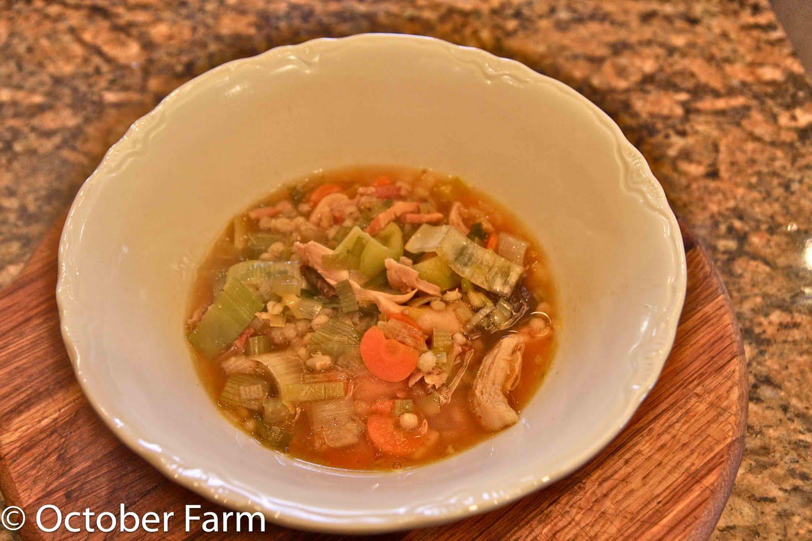 Octoberfarm: Cock-A-Leekie Soup