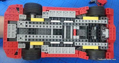 LEGO Ferrari F40 set 10248 underside underneath