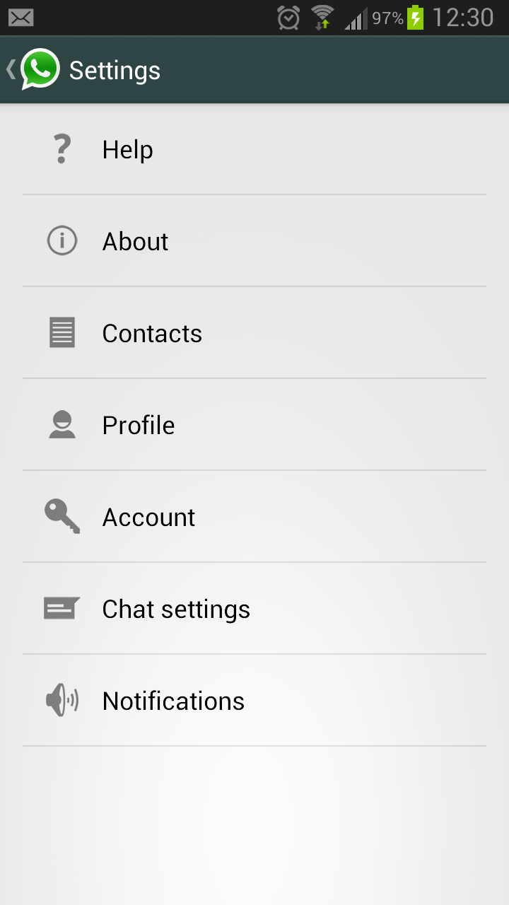 how to set up whatsapp using my samsung android
