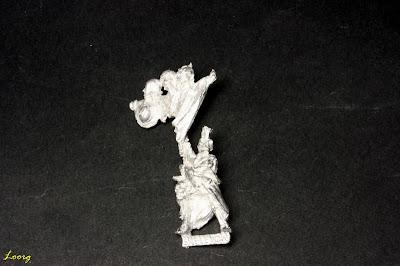 Vista frontal del Esqueleto portaestandarte