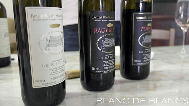 Le Ragnaie tasting - www.blancdeblancs.fi