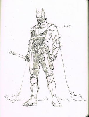 Earth 2 Batman sketch by Jim Lee
