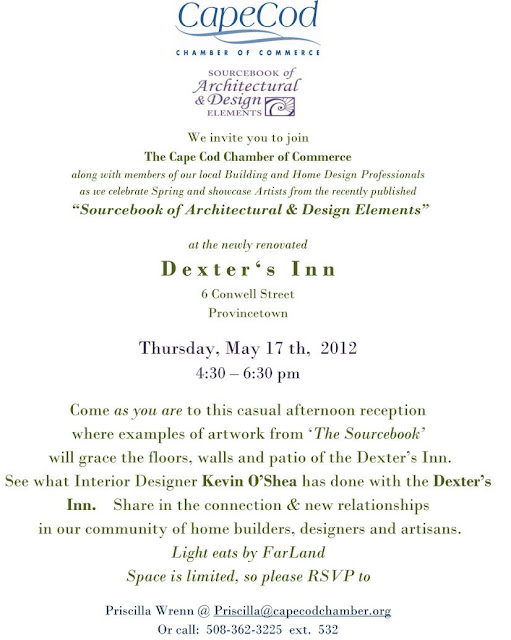 May 17 - Dexter's Inn - The Sourcebook - casual reception 4:30-6:30pm