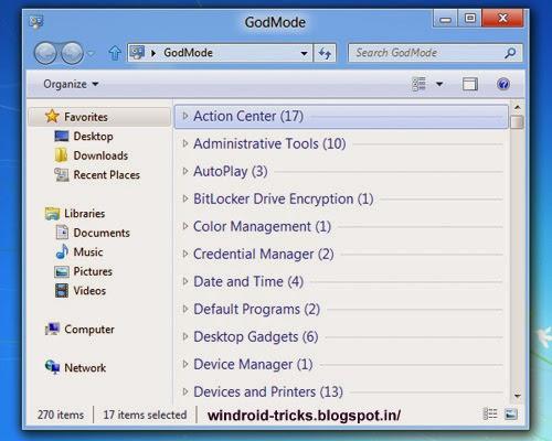 Enabling God Mode in windows 7, 8, 8.1