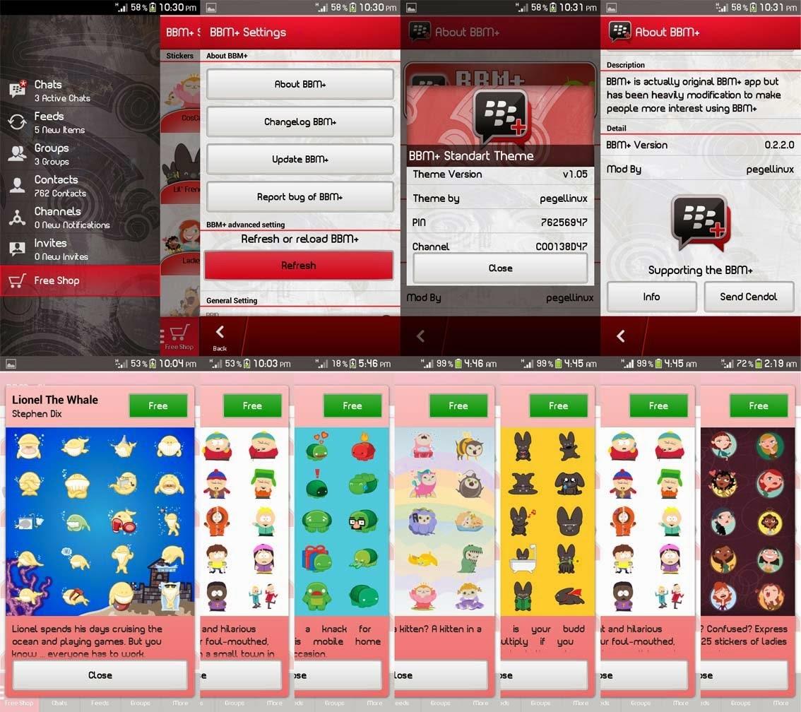 Screenshoot Tampilan BBM MOD